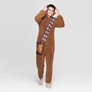 Star Wars Chewbacca Hooded Union Suit Men's Sz L